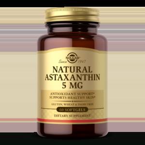 Natural Astaxanthin 5 mg Softgels