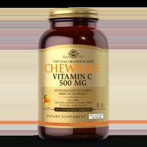 Vitamin C 500 mg Chewable Tablets - Orange Flavor