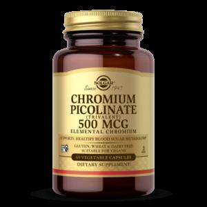 Chromium Picolinate 500 mcg Vegetable Capsules