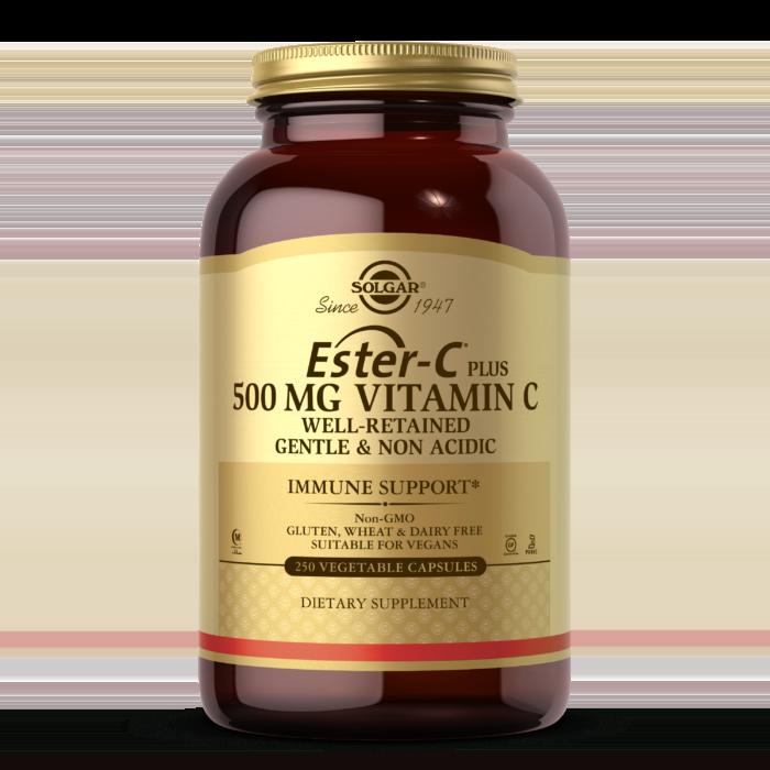 Ester-C® Plus 500 mg Vitamin C Vegetable Capsules (Ester-C® Ascorbate Complex)