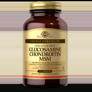 Triple Strength Glucosamine Chondroitin MSM (Shellfish-Free) Tablets