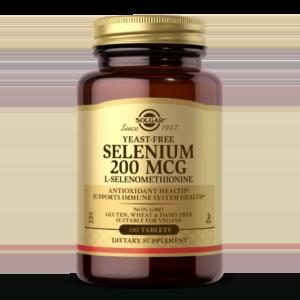Yeast-Free Selenium 200 mcg Tablets