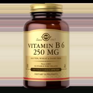 Vitamin B6 250 mg Vegetable Capsules