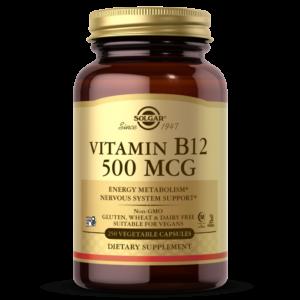 Vitamin B12 500 mcg Vegetable Capsules