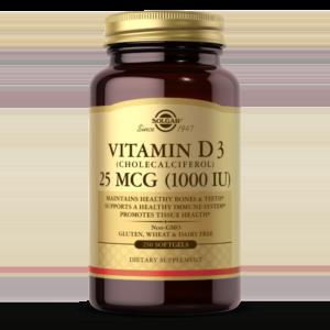 Vitamin D3 (Cholecalciferol) 25 mCG (1000 IU) Softgels