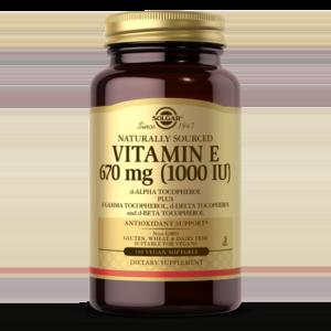Vitamin E 670 MG (1000 IU) Vegan Softgels (d-Alpha Tocopherol & Mixed Tocopherols)