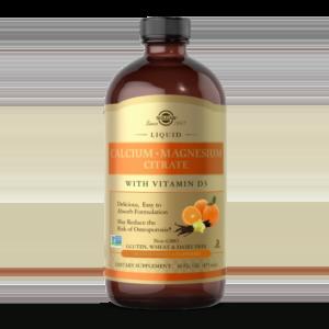 Liquid Calcium Magnesium Citrate with Vitamin D3 - Natural Orange-Vanilla Flavor